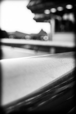 Handrail, Disney World, Epcot, black & white, photo, Nathaniel Johnston, NJohnston Photography, www.njohnstonphotography.com